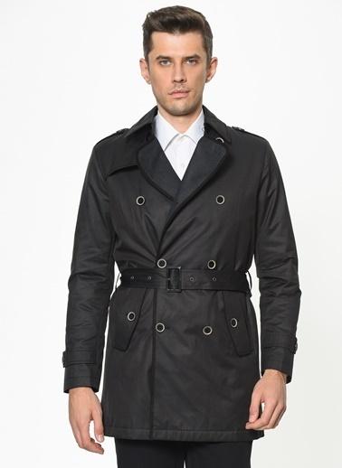 Beymen Business Standart Fit Desenli Palto 4B0520100007 Antrasit